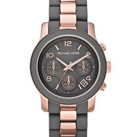 Michael Kors Women's MK5465 Runway Grey & Rose Gold-Tone Stainless Steel Watch