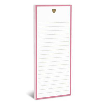 Gold Heart Magnetic Notepad