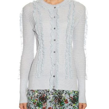Tal ruffled-front cardigan | Erdem | MATCHESFASHION.COM US