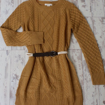 Beaux Belted Sweater