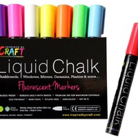 LIQUID CHALK MARKERS - Premium Chalk Ink Paint Pens 8pck 6mm Chisel Tip