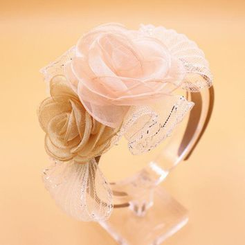 DCCKL3Z Girls&Women Beautiful Chiffon Flower Grace Hairbands Kids Headbands Children Hair Hoop Tiara Hair Accessories