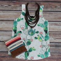Cactus Sublimationed Graphic Tank