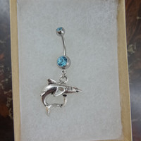 Shark Navel Belly Button Ring