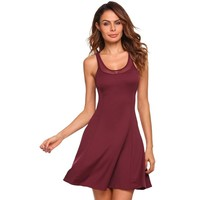 Round Neck Swing Racerback Dress