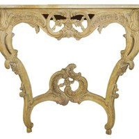French-Style Onyx-Top Console Table