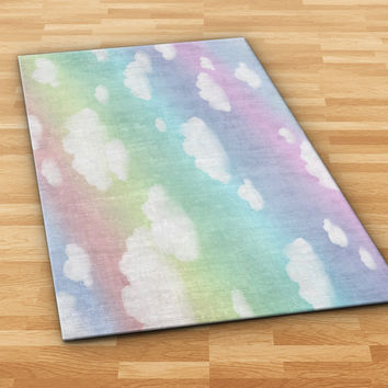 Clouds Rainbow Area Rug
