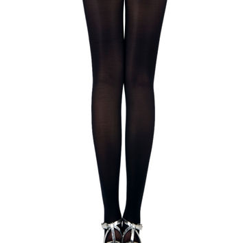 Skeleton Print 80 Denier Velvet Tights