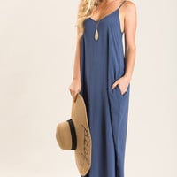 Elizabeth Navy Maxi Dress