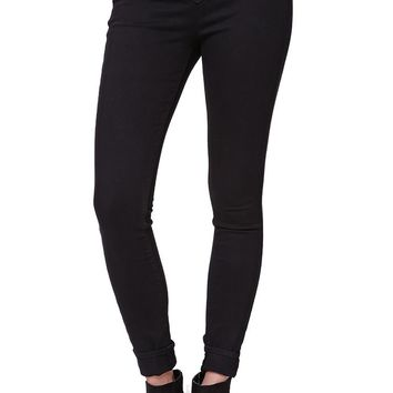 Gypsy Warrior Super High Rise Lace Up Skinniest Jeans - Womens Jeans - Black -
