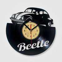 Vinyl Record Clock - Beetle. The package will be shiped in JANUARY 2015.