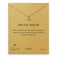 soar high thunderbird necklace, gold dipped