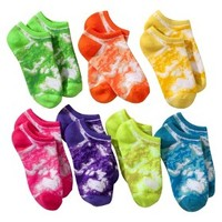 Xhilaration® Girls 7-Pack No-Show Socks - Multicolor