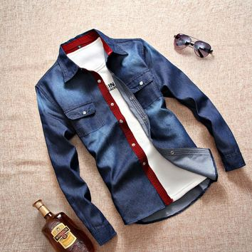 Slim Long Sleeve Stylish Men Shirt