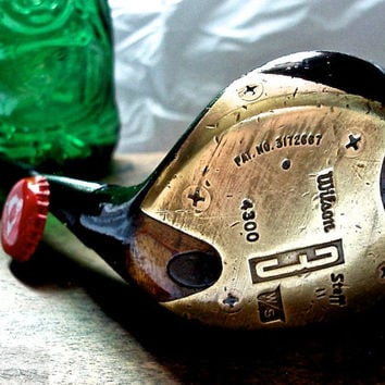 Golf Club Bottle Opener-- Rustic Wilson Staff Professional 3 Wood Bottle Opener --OOAK