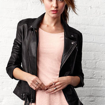 Belted Leather Moto Jacket - Victoria's Secret