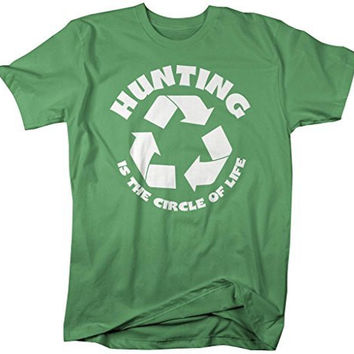 Shirts By Sarah Men's Funny Hunting Shirt Circle Of Life Hunter T-Shirts