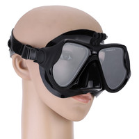 Black Snorkelling Scuba Diving Mask Goggles Swimming Face Mask with Bracket Mount for GoPro Cameras