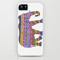 Tribal Elephant iPhone & iPod Case by Sarah Hinds | Society6