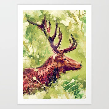 deer art #deer #animals Art Print by jbjart