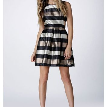 Chocolatier Pleated Mini Dress