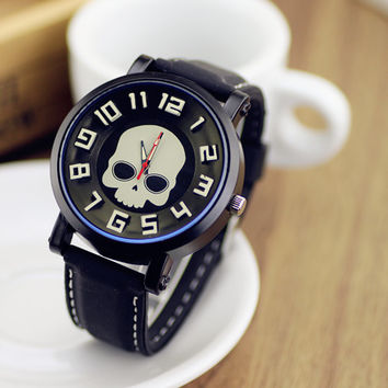 Skull Design Silicone Watch