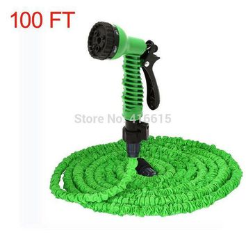 VONL8T Retractable Expandable The Magic Water Watering Garden Hose 100FT 100 FT With Valve+ Spray Gun EU US