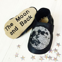 Personalised Moon Baby Shoes