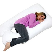 Pillowcase for U Shaped Pillow - White - Exclusively by BlowOut Bedding RN #142035