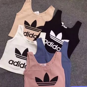 ADIDAS Print Sleeveless Vest Short T Shirt