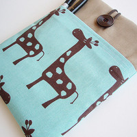 Macbook 11 inch Giraffe Pocket Sleeve Macbook Air by sewwonder