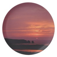 sunset 3 melamine plate