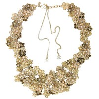 CHANEL 2010 Limited Edition Beige Pague Camellia Bib Necklace rt. $10,500