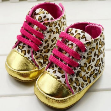 Cute Baby Girl Soft Gold Sole  shoes