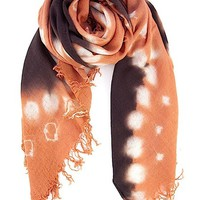 Apricot Brandy Cashmere and Silk Tie-Dyed Scarf - Chan Luu