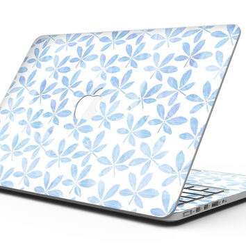 Blue Watercolor Leaves - MacBook Pro with Retina Display Full-Coverage Skin Kit