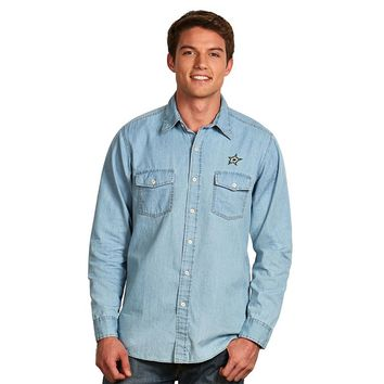 Antigua Dallas Stars Chambray Button-Down Shirt