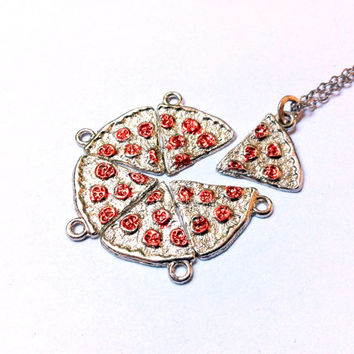 Slice of Pepperoni Pizza Necklace