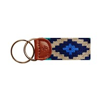 Gaucho Needlepoint Key Fob in Dark Khaki by Smathers & Branson