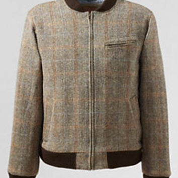 Men's Willis & Geiger Harris Tweed Varsity Jacket from Lands' End