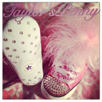 ICIKGQ8 baby first star bling converse w marabou