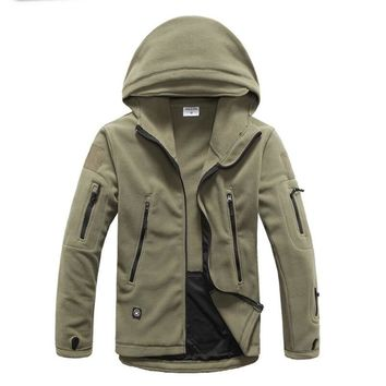 TAD 4.0 Fleece Polartec Military tactical Jacket men Thermal outdoor hiking trekking fishing camping Sports coat ranger hooded
