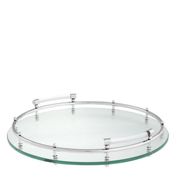 Clear Glass Round Tray | Eichholtz Mathew
