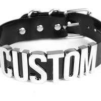 "Custom ""Safe Word"" Choker - XL"
