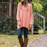 Easy To Love Sweater, Pink
