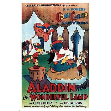KIDS CARTOON aladdin & the wonderful lamp MOVIE POSTER Ub Iwerks 1924 24X36
