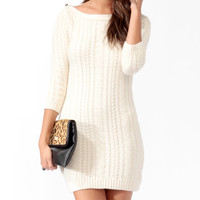 Essential Cable Knit Sweater Dress