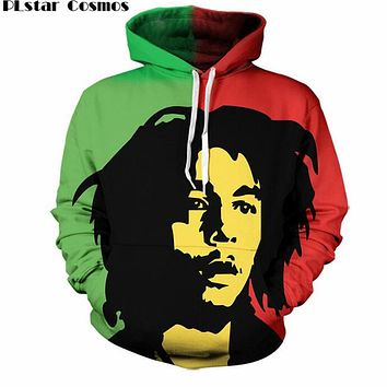 Pocket Drawstring Thin Hoodies Men/Women 3d Sweatshirts Reggae Star Bob Marley Print casual Hoody Pullovers S-5XL