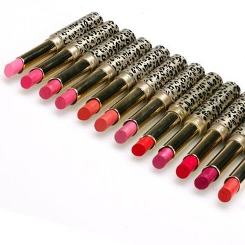 High Quality Fashion Women Sexy 12 Colors Moisture Charming Shimmer Matte Lipstick Set