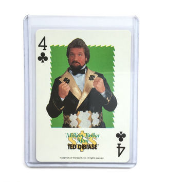 1991 Million Dollar Man Ted Dibiase WWF Playing Card New! Titan Sports! Superstars Plastic Collector Card Holder Included Great Gift